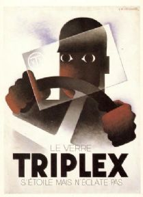 Vintage French advertisment poster - Triplex 1930